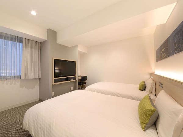 ツインルーム☆18.4平米☆ベッド幅120cm