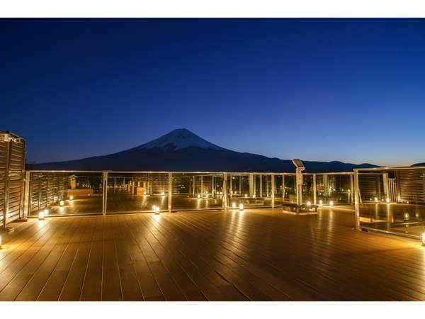足湯からの富士山