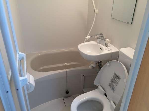 全室ユニットバス対応。トイレはウォシュレット付きです。