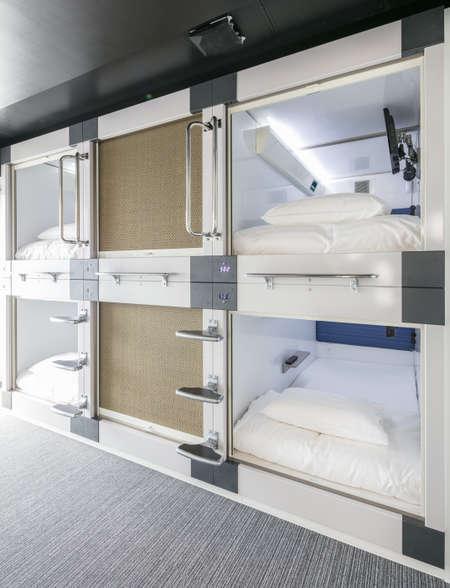 【富山県初】カプセルルーム  テレビ付きプライベート空間でおやすみいただけます