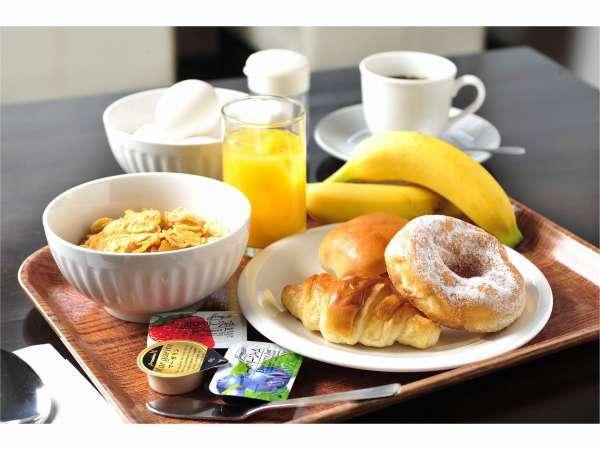 全プラン無料の軽朝食メニュー☆毎朝6:00~10:00まで。