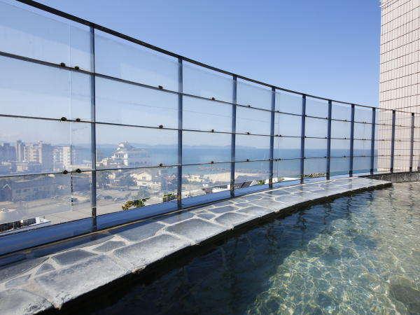 【桐壷の湯】露天風呂 8Fからの眺望