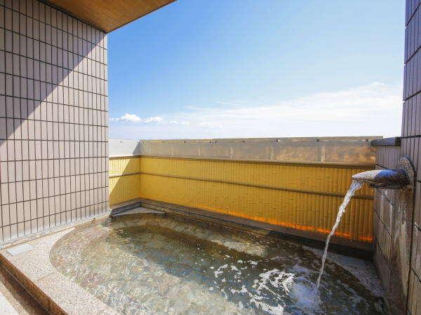 【藤壺の湯】露天風呂 空が気持ちいい