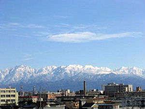 ■景観:富山連峰を望む!※天気の良い日は、12F朝食会場「ルーバン」からもご覧頂けます♪