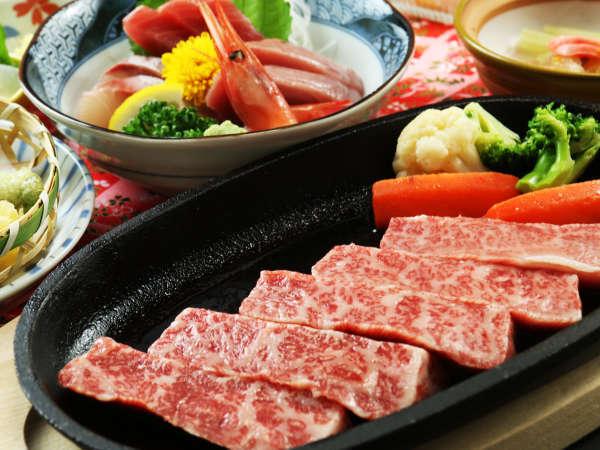 ◆【和牛コース一例】地元塙町産ブランド牛『はなわ牛』のステーキ。極上の霜降り肉をご堪能ください。