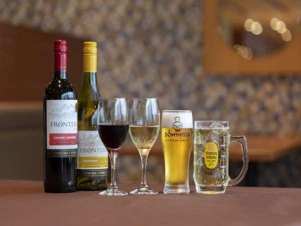 ご宿泊者様へアルコール、ソフトドリンク無料サービス!営業時間19:00~21:00