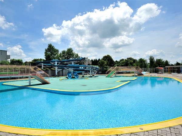【夏季限定・レジャープール】120m流水プール、幼児用プール、ウォータースライダーもございます★
