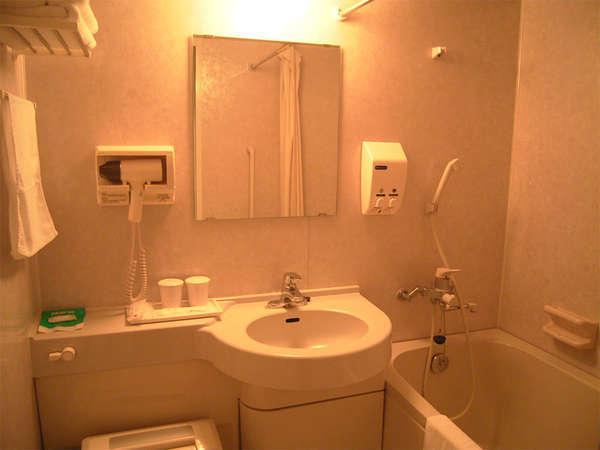 全室ユニットバス完備。温泉浴場の営業時間外でも安心です。