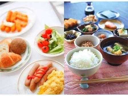 和洋食バイキングを無料サービスにてご用意いたしております!朝6:30-9:00