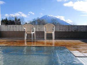 露天風呂から見渡せる羊蹄山は、まさに絶景!