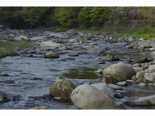 周辺を流れる高瀬川の渓流