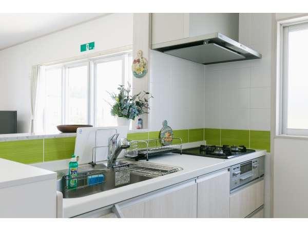 キッチン完備でご自宅にいる感覚で料理できます。