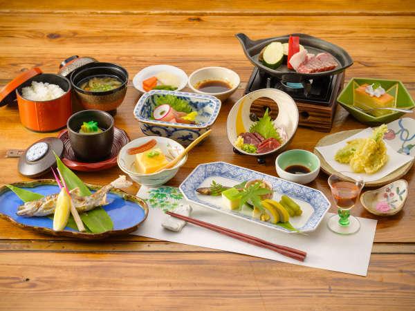 【夕食/一例】阿蘇の食材にこだわった会席料理