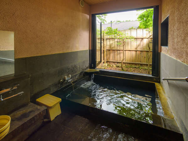 【お部屋の内風呂】全てのお部屋が100%かけ流しの天然温泉