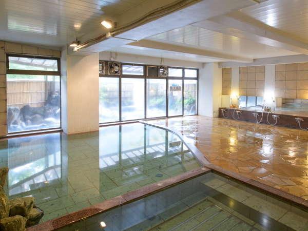 【大浴場】修善寺温泉随一の規模を誇る内湯で手足をのばしてゆったり。ジャグジーも◎