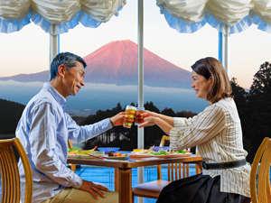富士山に乾杯!旅の思い出に。