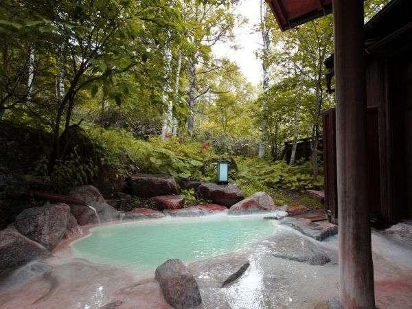 【白骨温泉 小梨の湯 笹屋】白樺林に湧く乳白な湯、源泉掛け流しが心に浸みる