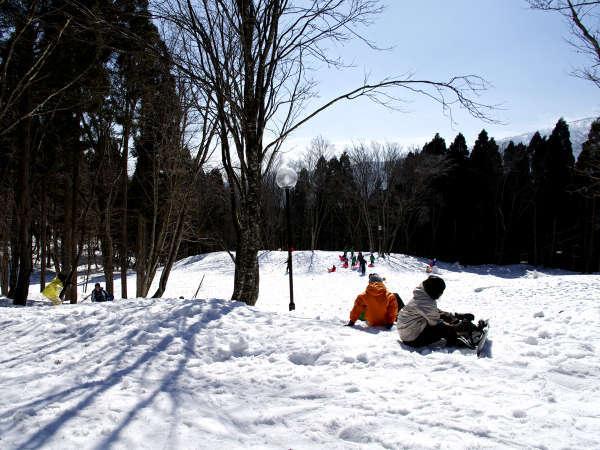 スキー場は目の前!ウインタースポーツをEnjoy♪