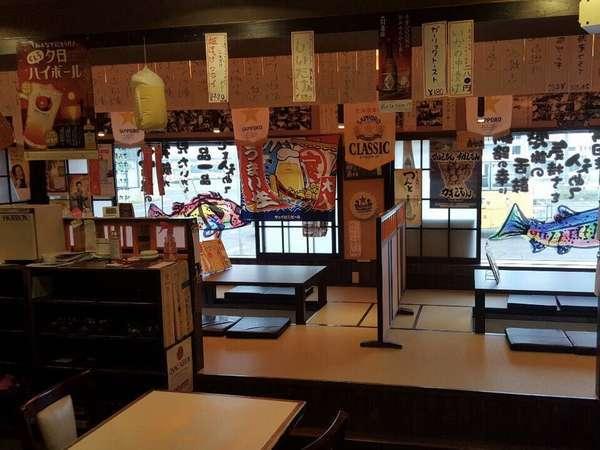 ホテル1階・釧路食堂、宿泊者10%OFF券進呈、日曜祝日定休日(臨時休業もあり)