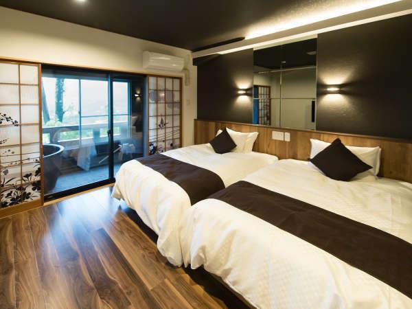 【客室一例】仙石原の最高峰に位置する客室からの眺望は絶景をひとり占めできる非日常の空間を演出