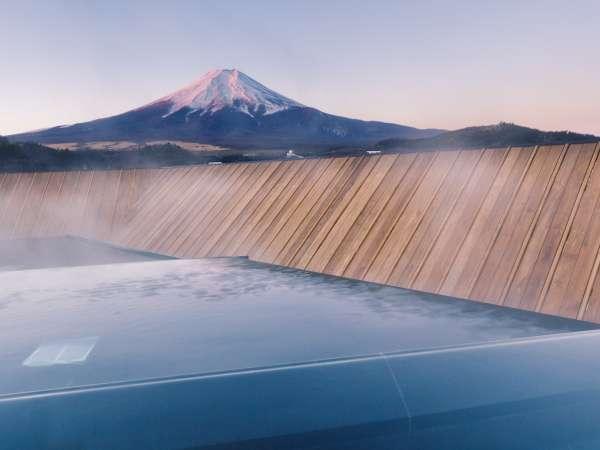 露天風呂富士山/屋上からの感動的な紅富士の光景(男女入れ替え制)