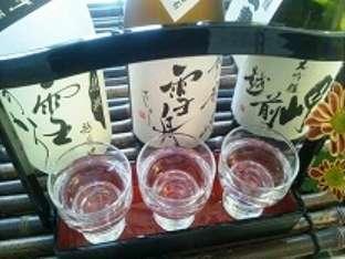 女将セレクト地酒 利き酒セット(1000円)を始めました☆永平寺町の蔵元『田邊酒造』