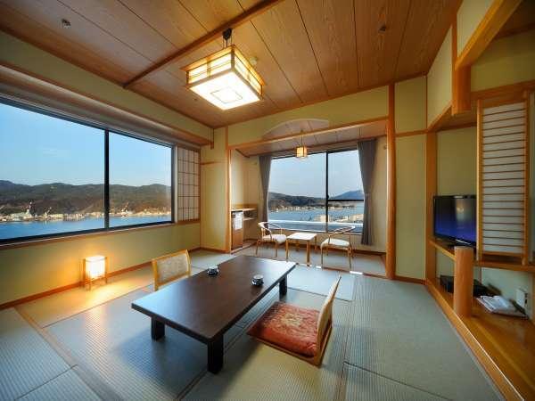 【角部屋和洋室】10畳和室+ツインルーム  気仙沼湾を一望できます♪