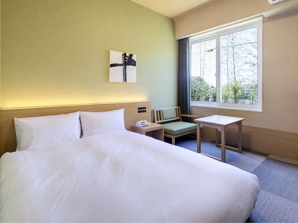 <客室>別館シングル(13.4㎡・ベッド幅140cm)2名様利用時 館名:若草の丘