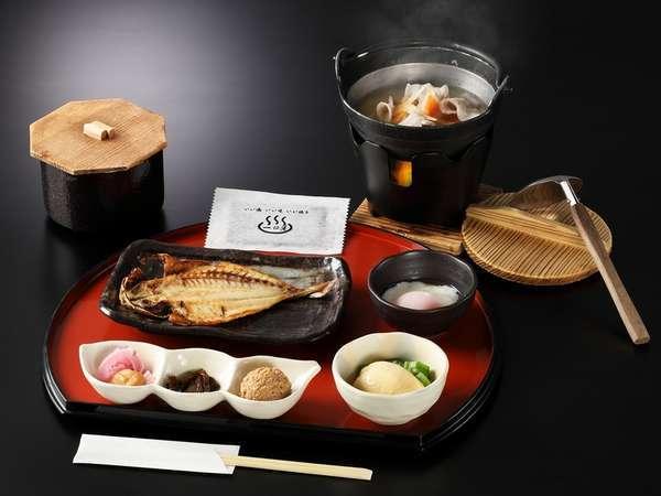 具だくさんの豚汁が嬉しい純和食の朝【一例】