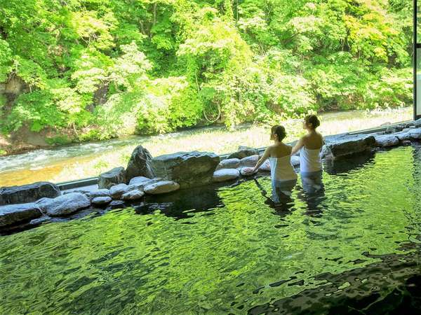 爽やかな風を浴びながら温泉をお楽しみください♪