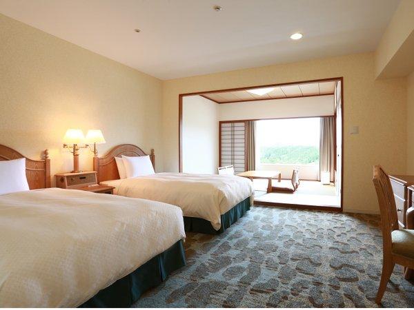 【和洋室46㎡】セミダブルベッド2台と和室6畳の家族にうれしいお部屋タイプ♪