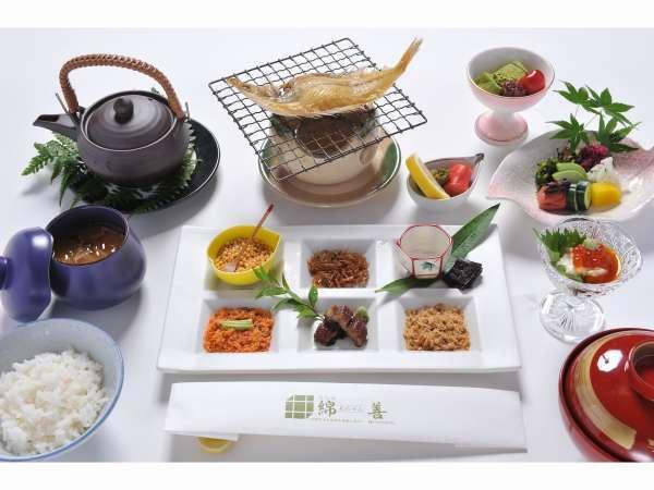 京都のお漬物をお茶漬けで召し上がって頂くぶぶ漬け朝食