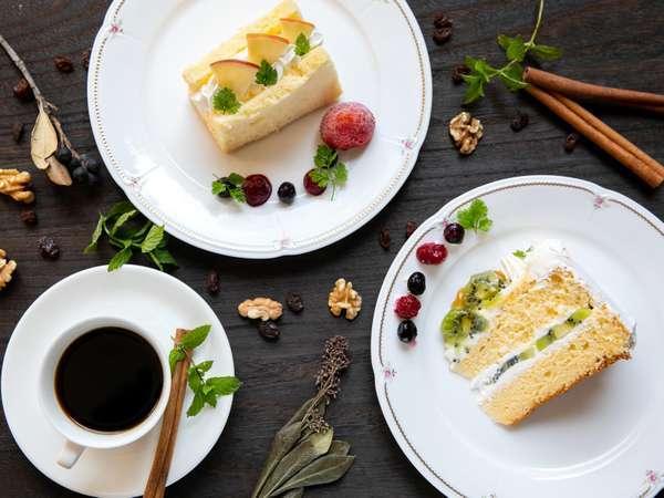 カフェルグランの人気メニューの1つ自家製ケーキ