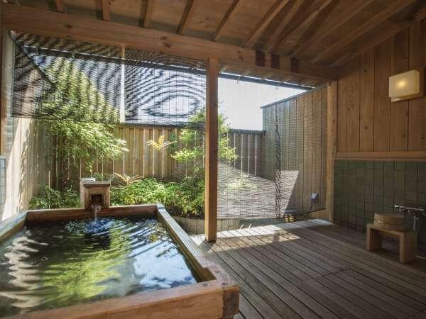 【別館庭園付き露天風呂客室】プライベート感満載でカップルやファミリーに人気。