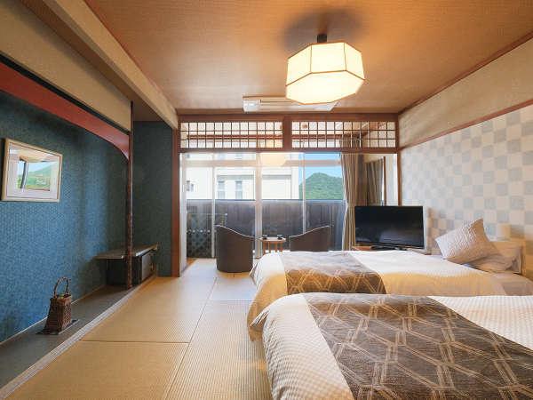 <別館‐ツイン>畳の心地よさと、ベッドの安らぎを両立したお部屋