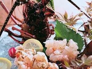 豪華「伊勢海老・活造り」はぷりぷりの新鮮な触感と甘みを堪能して♪/黒潮膳プラン一例