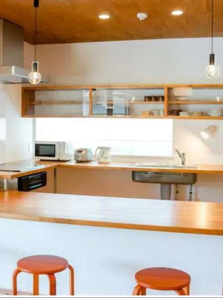 【ペンシオーネ島戸1】角島大橋付近の2棟の宿泊施設はBBQ、焚火、海の体験等が楽しめます