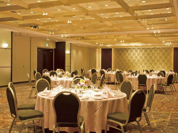 ★大宴会場は着席スタイル170名様、ブッフェスタイル250名様まで収容可能