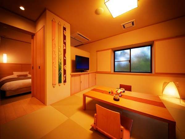 【プレミアム】和室のリビングと洋室の寝室はスイートタイプ♪最大6名様まで利用可