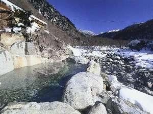 雪見露天を愉しむ「槍見の湯」