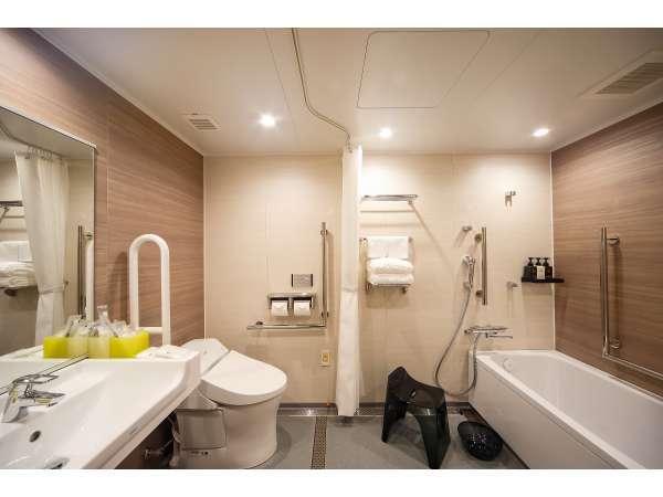 【バリアフリールーム】バスルーム