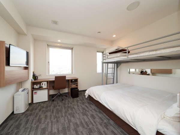 SuperiorRoom/22平米の広々としたお部屋で、3名様1室でご利用可能です。: