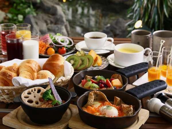 ◆3種類から選べる朝食◆ TERRA 選べるガレット+新鮮野菜・スープ・パン等をビュッフェ形式で(イメージ)