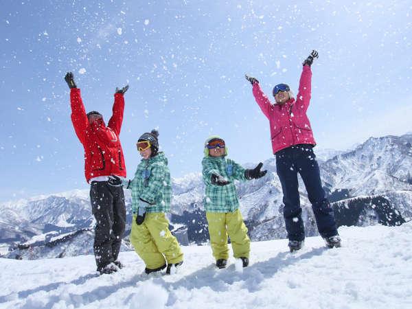 *【スキー】<NASPAスキーガーデン(12~4月頃まで/徒歩0分)>家族で楽しめる、スキー専用ゲレンデ。