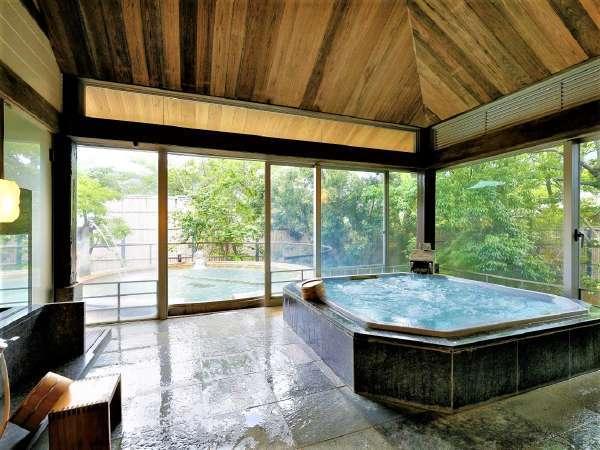 ◆貸切温泉 御殿湯◆本当にこれ貸切風呂!?驚くほど広い露天が人気の【椿】