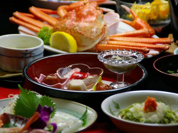 リーズナブルに蟹を楽しみたい方に♪海鮮会席コースに紅ズワイ蟹がセットになりました!(一例)
