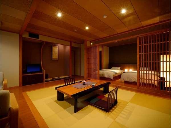 リニューアル和洋室15畳。3F4F角部屋で静かな環境です。和室のくつろぎと、洋室の便利さを兼ね備えます。