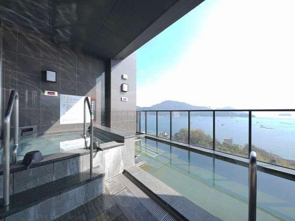 【炭酸露天風呂】通称ラムネ風呂の「炭酸風呂」を大パノラマでお楽しみください