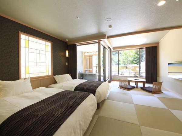 ○【翡翠】のお部屋は42平米にお庭の付いた寛ぎの空間です♪