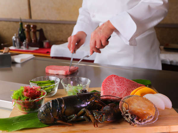 ■鉄板焼-明日香-お料理イメージ■最高級和牛を中心に山海の厳選食材を鉄板焼にて贅沢に